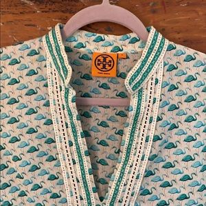 Tory Burch flamingo cotton tunic